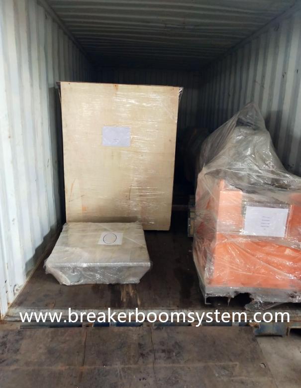 rock breaker booms system