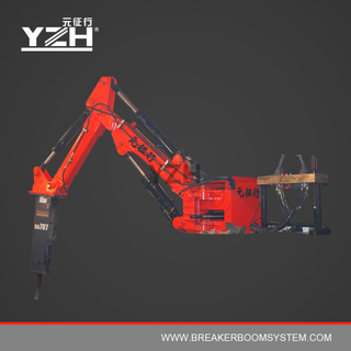 B300 170° Rotation Type Stationary Pedestal Rockbreaker Booms System