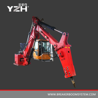 YZH-XM500HD Stationary Pedestal Boom Mounted Rock Breaker System