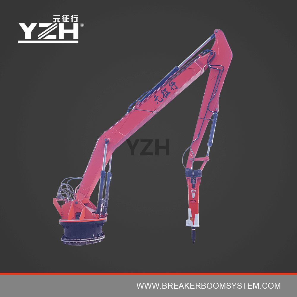 Fixed Pedestal Hydraulic Rock Breaker Boom System