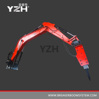 Fixed Pedestal Breaker Booms For Crushers