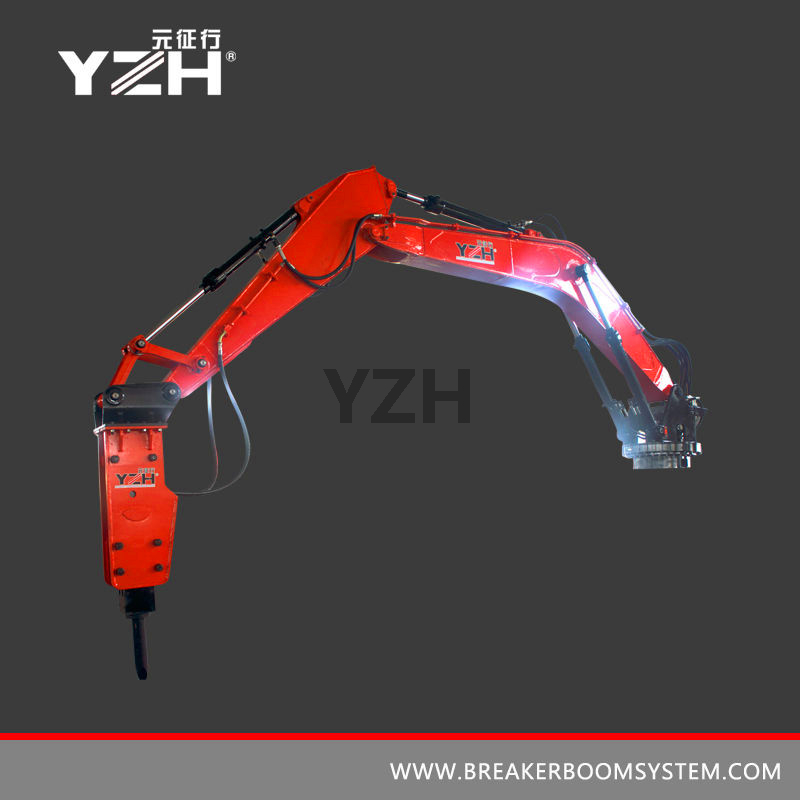 Stationary Rock Breaker Boom System