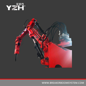Fixed Type Pedestal Hydraulic Rockbreakers Booms System