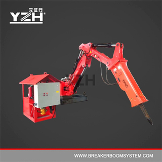 Stationary Type Pedestal Booms Mounted Rock Breaker