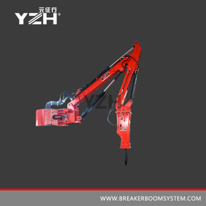Pedestal Type Stationary Rockbreakers Boom System