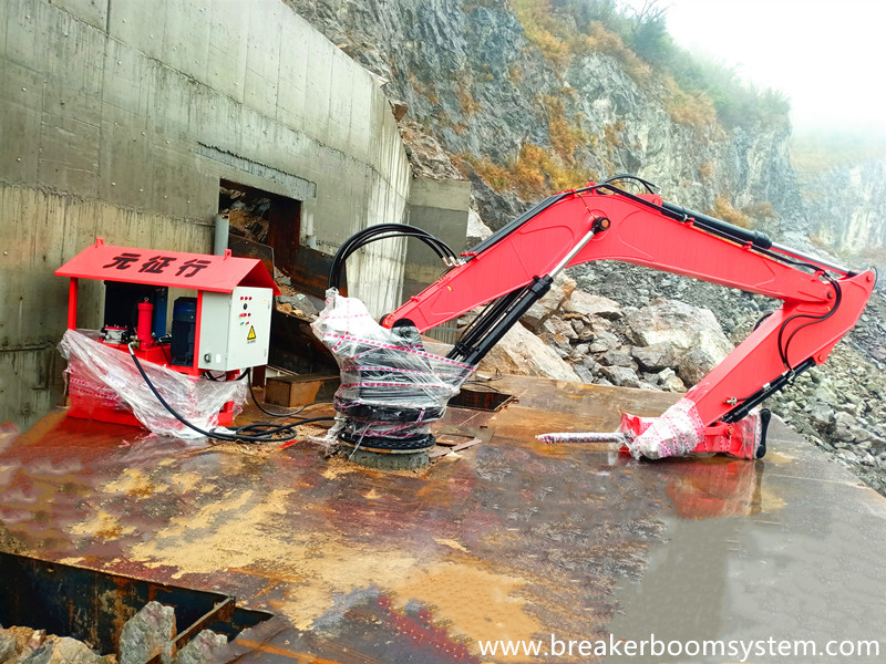 The First Set Stationary Rockbreaker Boom System After 2020 Chinese New Year...