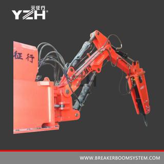 Rock Breaker Boom System For Grizzly