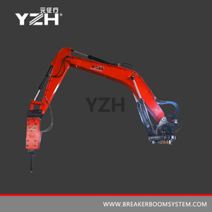 Stationary Type Pedestal Rock Breaker Boom Systems